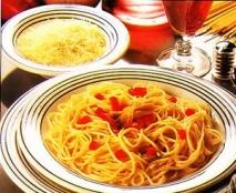Espaguetis con escalivada
