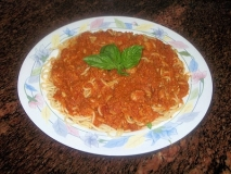 Espaguetis con rape