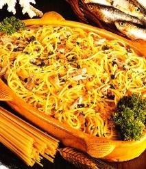 Receta de Espaguetis con sardinas
