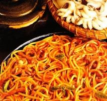 Espaguetis con sepias
