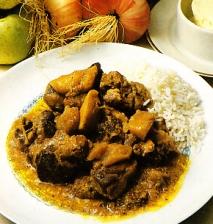 Receta de Espalditas de cordero al curry