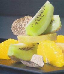 Fantasía de trufas y frutas de temporada