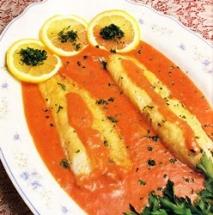 Receta de Filetes de pescado en salsa de yogur