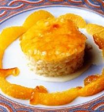 Flan de arroz con leche sin huevo