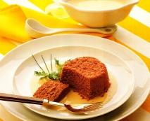 Flanes de remolacha con salsa de camembert
