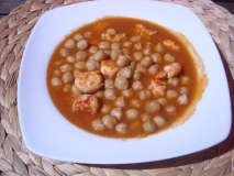 Garbanzos marineros en Thermomix