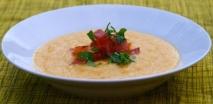 Gazpacho de melón con jamón en Mycook