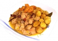 Receta de Guiso de carne de cerdo con castañas