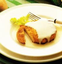 Hamburguesas de patatas y jamón al queso