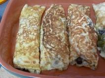 Hatillos de tortilla con setas