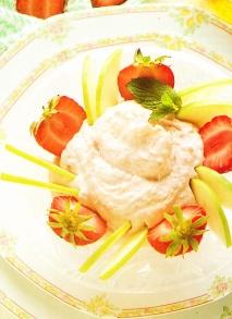 Receta de Helado de yogur con fresas