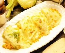 Hinojo y maíz gratinados
