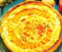 Hojaldre de huevos y zanahorias