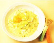 Huevos cocotte con verduras