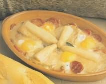 Receta de Huevos al salmorejo