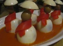 Huevos con bufanda