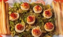 Huevos con mahonesa