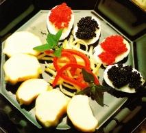 Huevos de codorniz con langosta