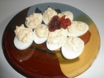 Huevos duros con mayonesa