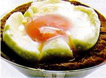 Huevos escalfados con morcilla de cebolla