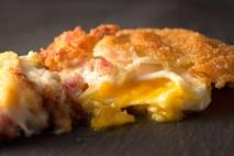 Receta de Huevos fritos empanados