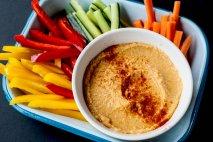 Receta de Hummus con crudités