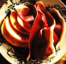 Jamón con melón a la pimienta