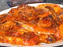Receta de Jamoncitos de pollo con gambas
