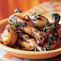 Jamoncitos de pollo con gírgolas
