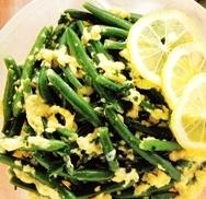 Judías verdes en salsa dorada