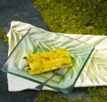 Lasaña de salmón y espárragos verdes