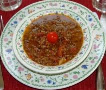 Receta de Lentejas estofadas con chipirones y almejas