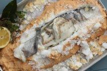 Receta de Lubina a la sal