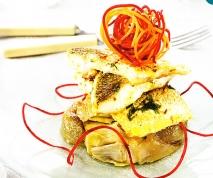 Receta de Lubina con cebollino, jengibre, lima y limón