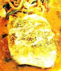 Receta de Lubina con salsa de suquet
