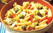 Macarrones rápidos con verduras