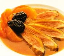 Magret de pato con naranja
