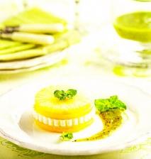 Receta de Mango y piña con queso fresco