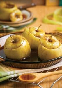 Manzanas al microondas con canela