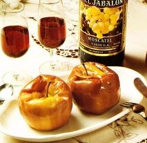 Receta de Manzanas al horno con moscatel