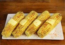Mazorcas de maíz a la barbacoa