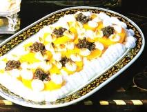 Receta de Melocotones con merengue