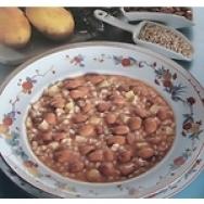 Menestra de cebada y alubias rojas