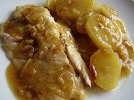 Merluza con patatas a la malagueña