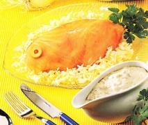 Merluza fría con salmón ahumado