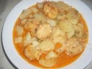 Merluza hervida con patatas