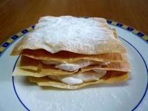 Receta de Milhojas con queso y uvas