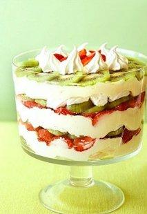 Receta de Milhojas de kiwi, fresas y mascarpone