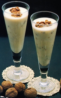 Mousse de café y nueces