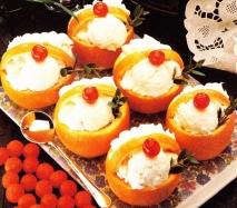 Naranjas con helado